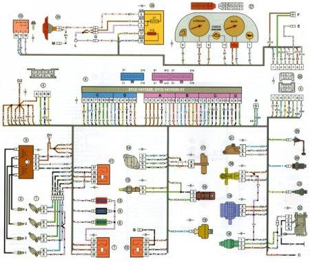 Ваз 21102 схема зажигания