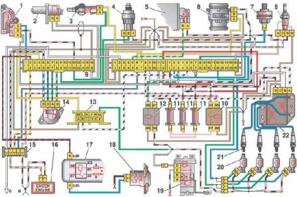 Схема впрыска инжектора